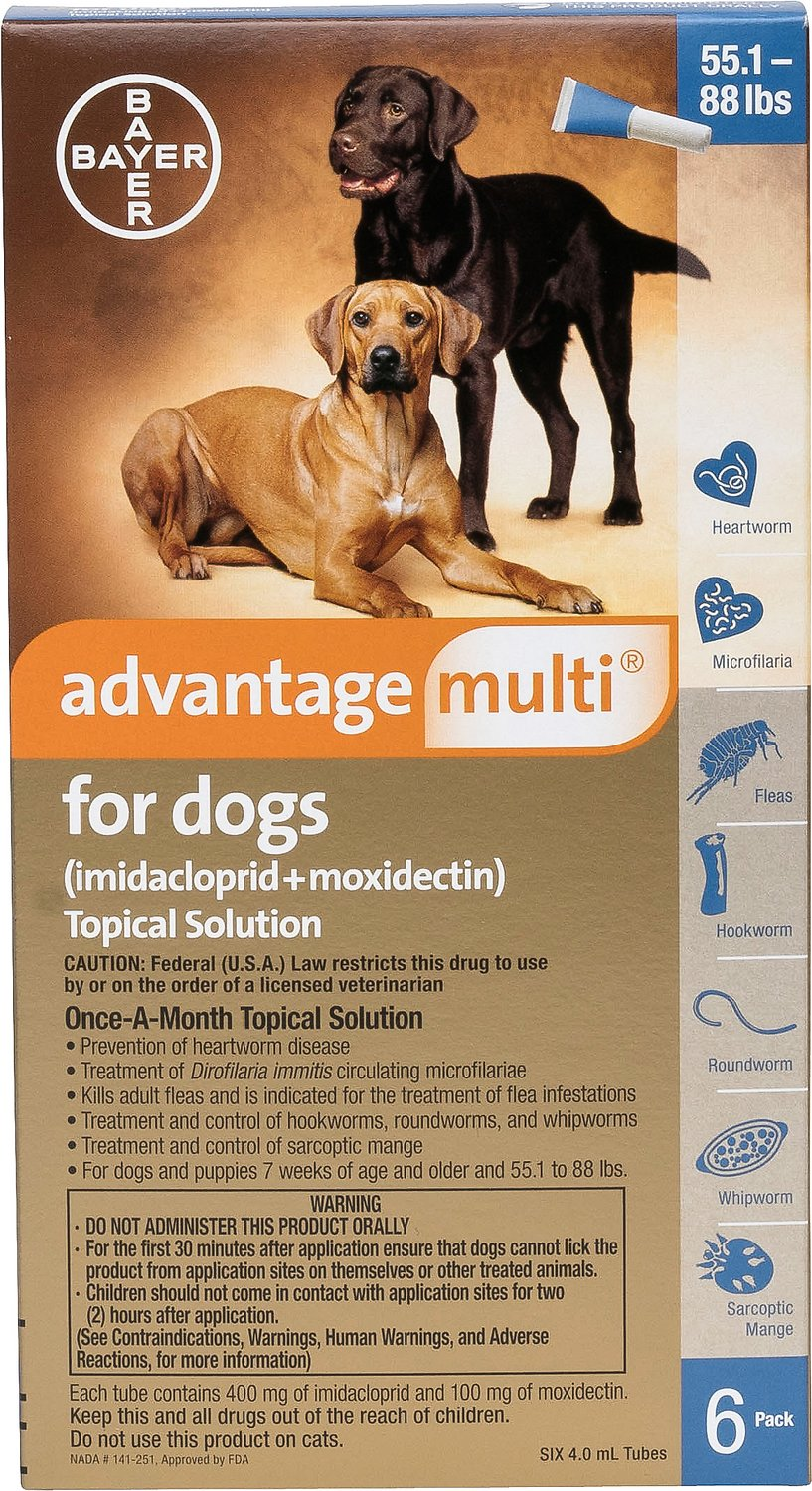 Advantage Topical Heartworm medication For Dogs